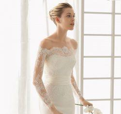 glamorous white wedding dress