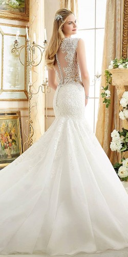 awesome mermaid white gown