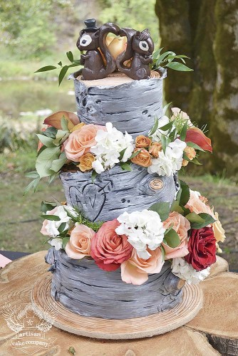 birch tree rustic cakes