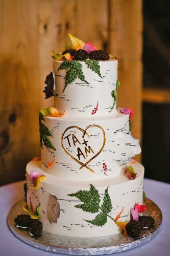 birch wedding cakes