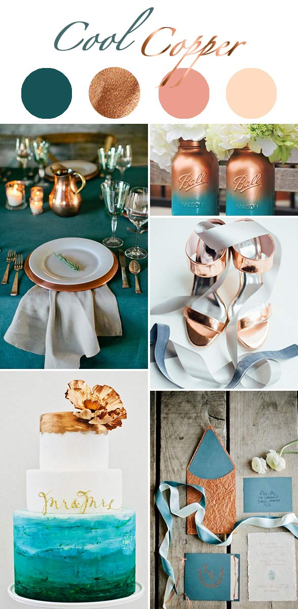 winter wedding color themes