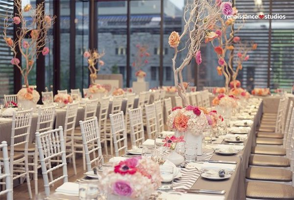 colorful wedding table decor