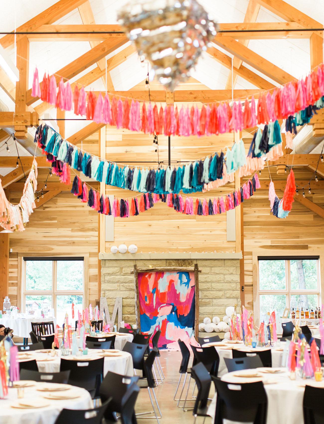 beautiful colorful wedding decor