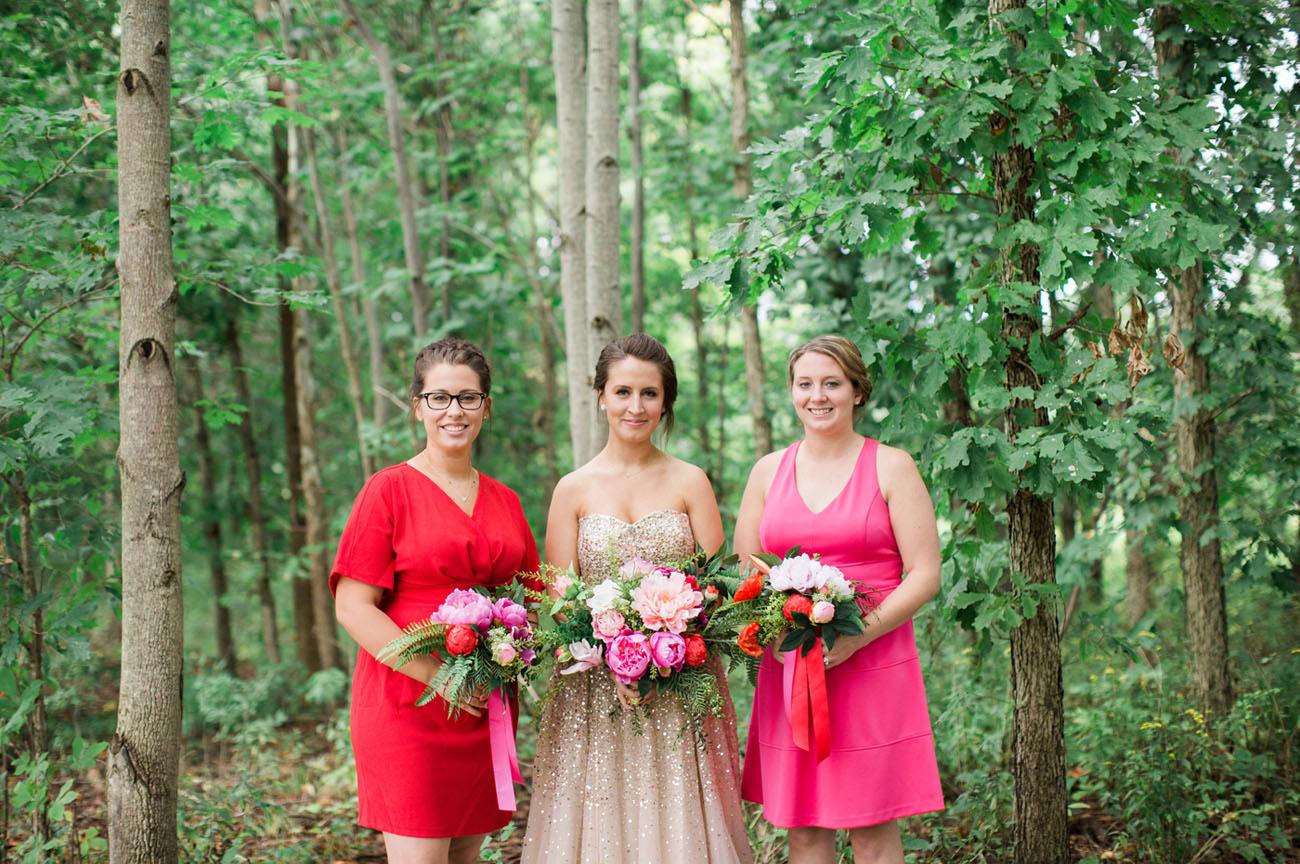 beautiful pink and magenta dress