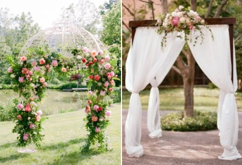 outdoor summer wedding arch