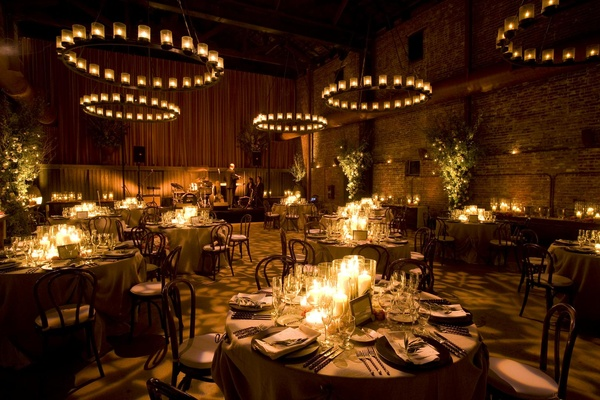 elegant wedding decor with lighting