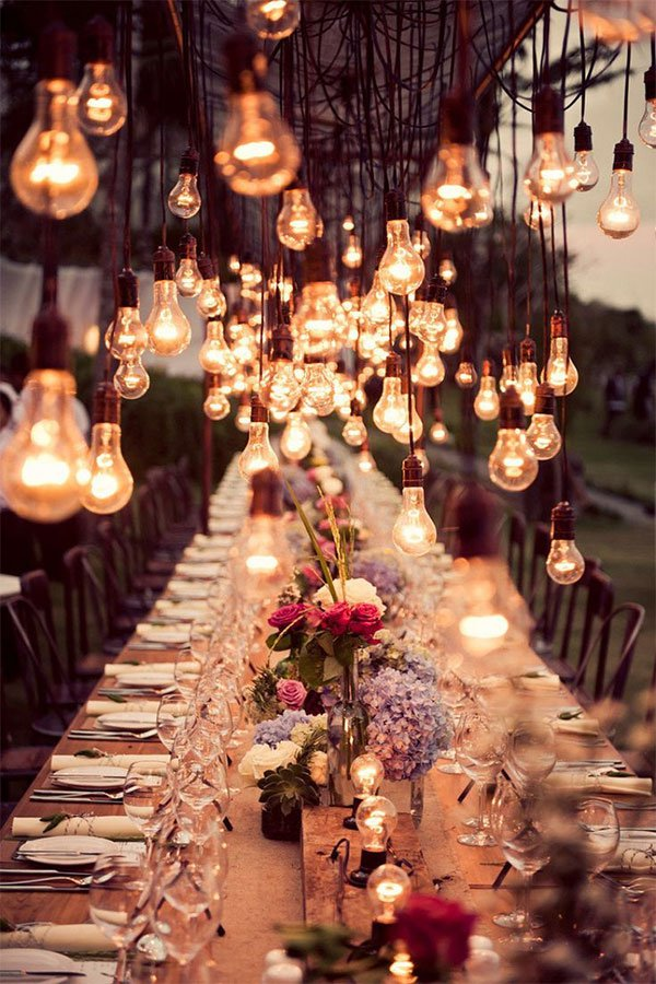 perfect lights for wedding decor