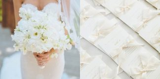snowy white wedding design