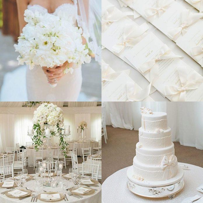 snowy white wedding design