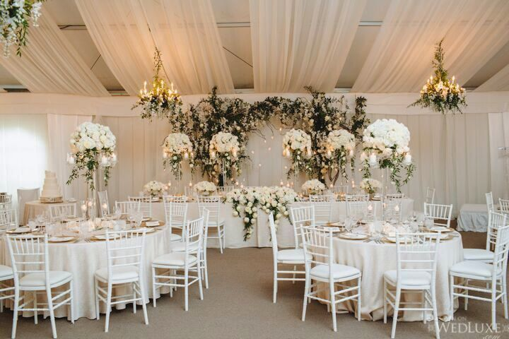 white elegant wedding design