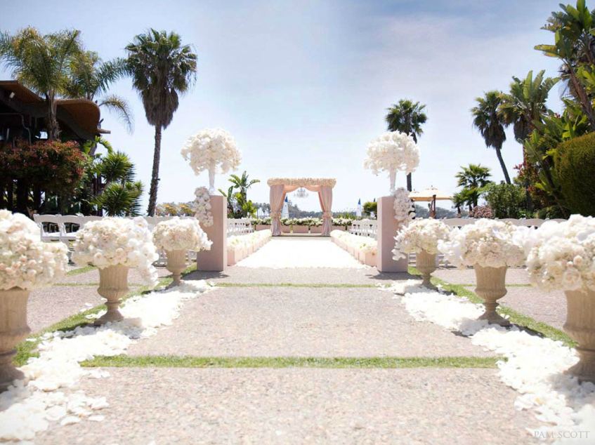 white elegant romantic wedding