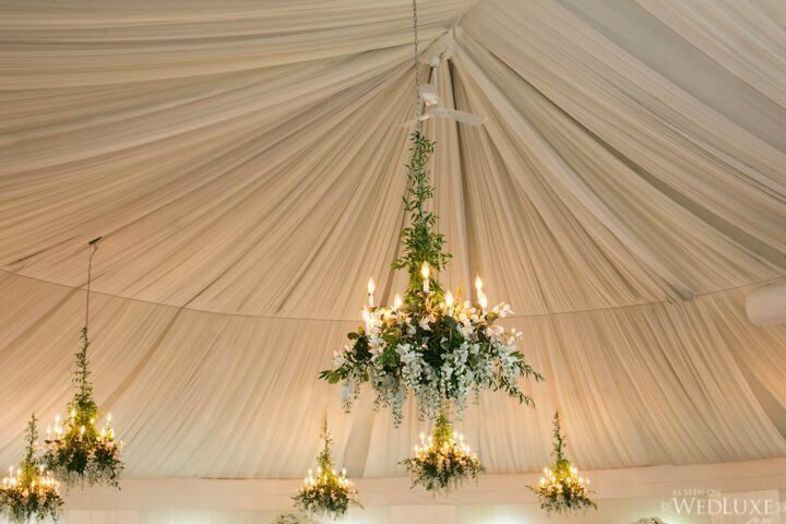 perfect white wedding chandeliers