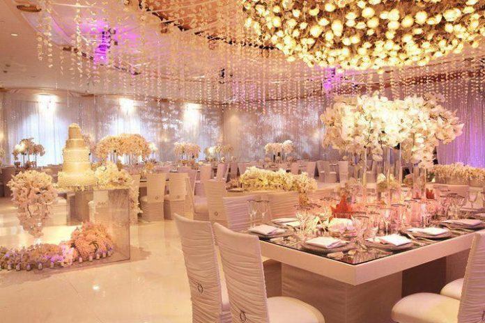 luxury wedding reception