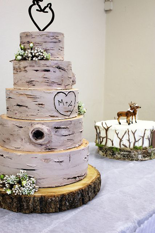 awesome rusic wedding cake