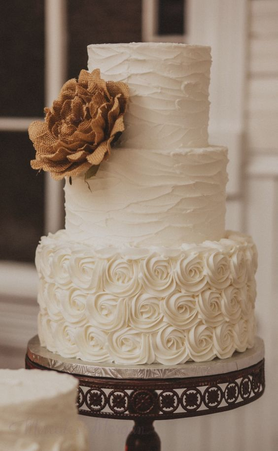 three-tier-white-textured-wedding-cake
