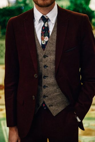 trendy waistcoat wedding attire