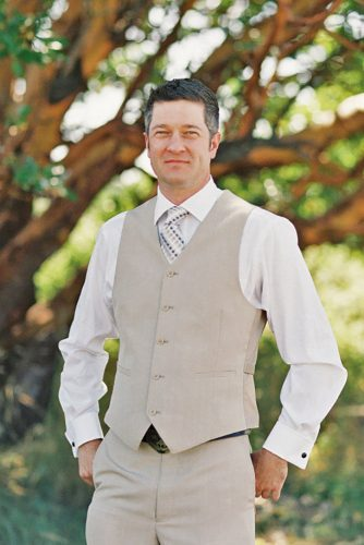simple beach men's wedding attire