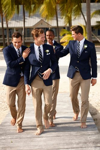 navy men's wedding attire