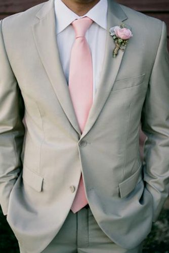 gray wedding attire