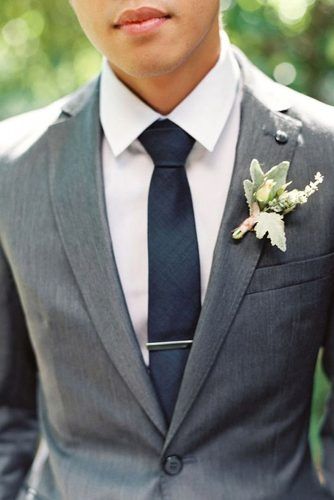 elegant gray groom attire