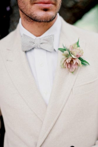 white simple groom wedding