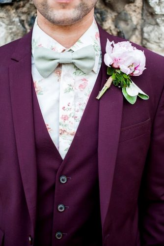 elegant purple wedding attire