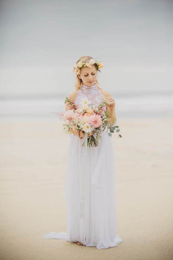 beautiful beach wedding dress