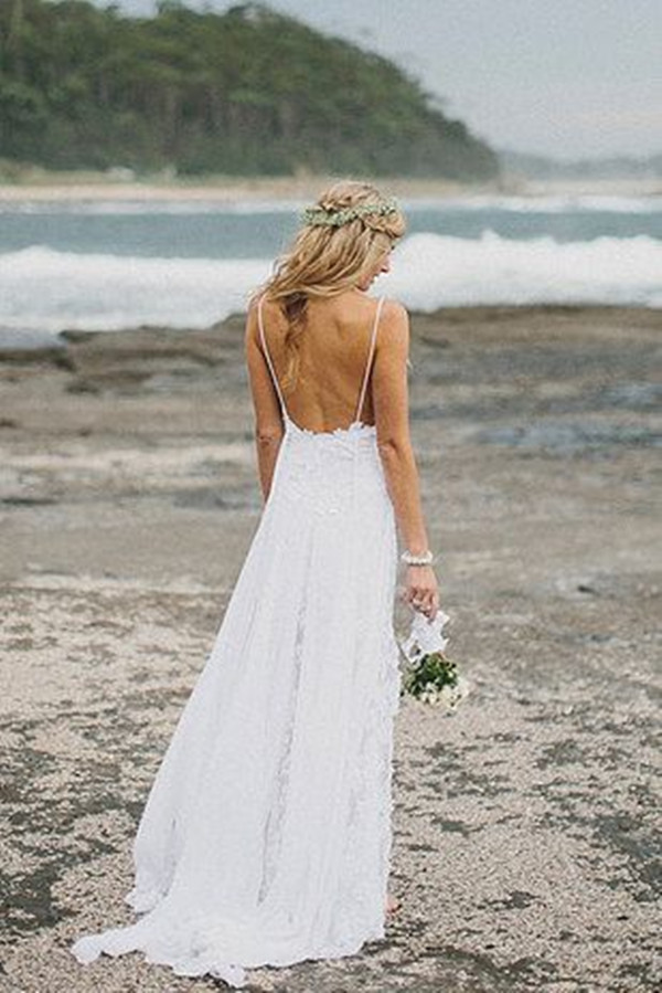 white back off wedding dress