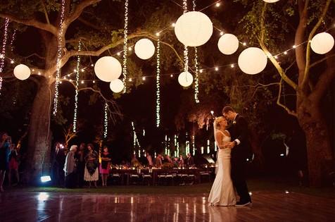 night summer wedding decoration