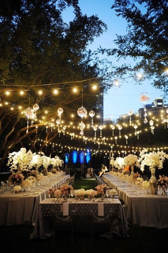 beautiful night vintage wedding