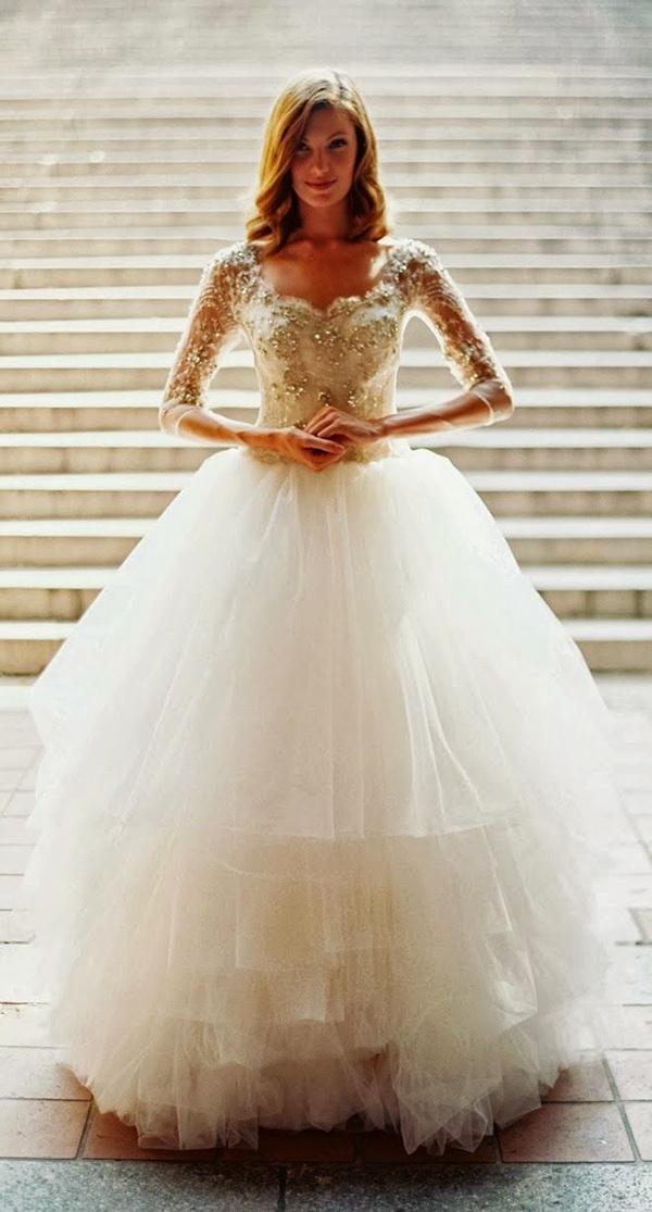 white elegant wedding dress