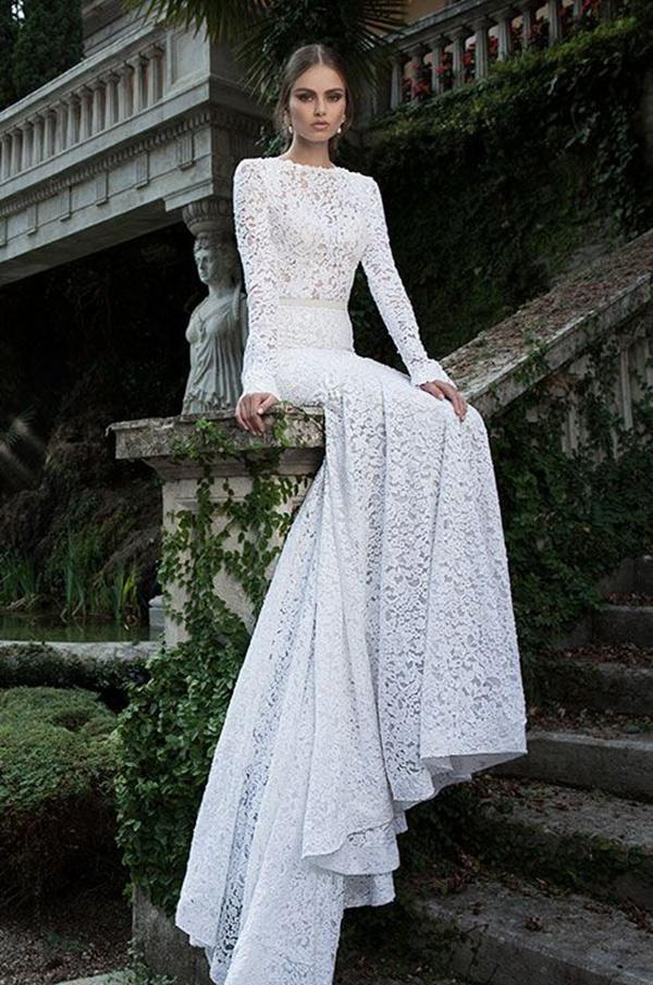 white glamor wedding dress