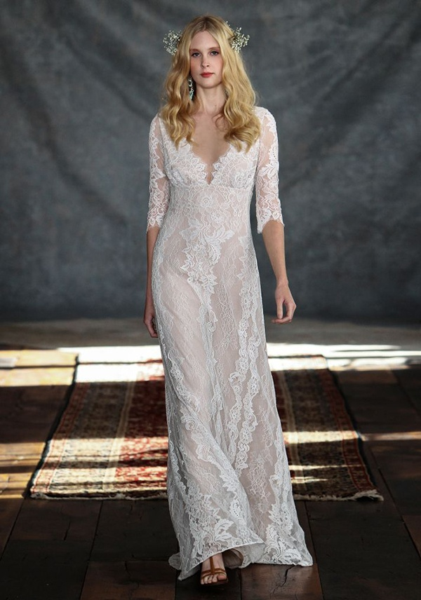 beautiful and glamor wedding gown