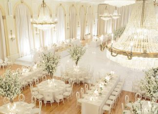 luxury white wedding concept