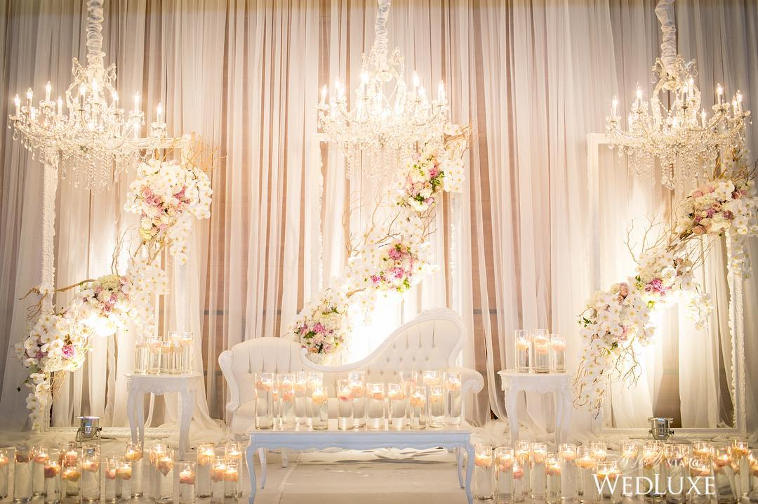 beautiful white wedding decor