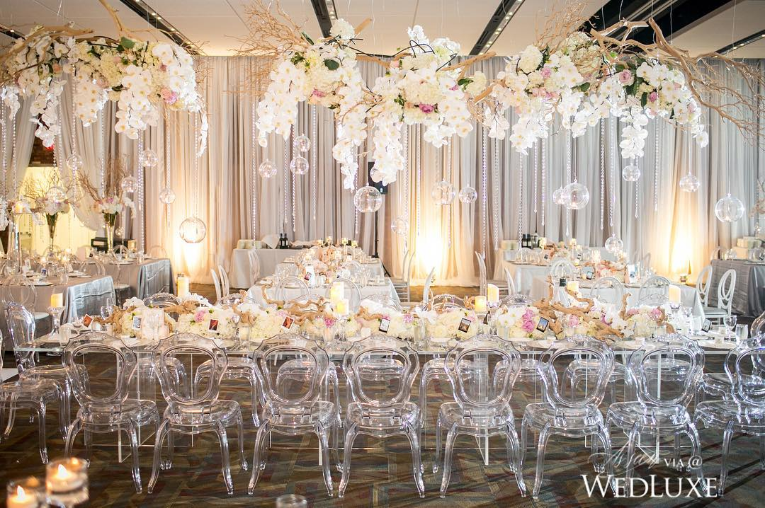 Elegant Wedding Place Decor With Florist and Lighting Decoration ...