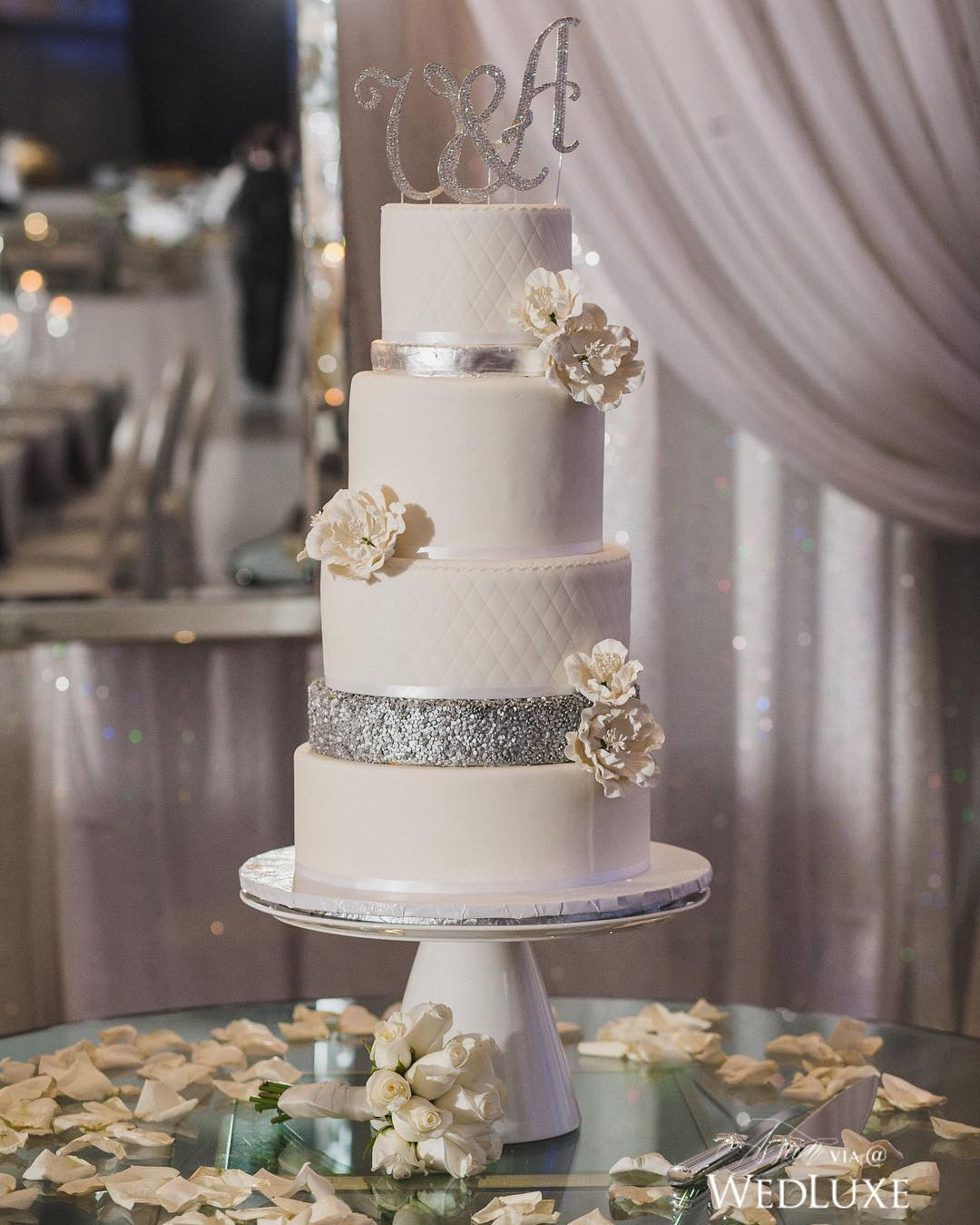 beautiful white wedding cake