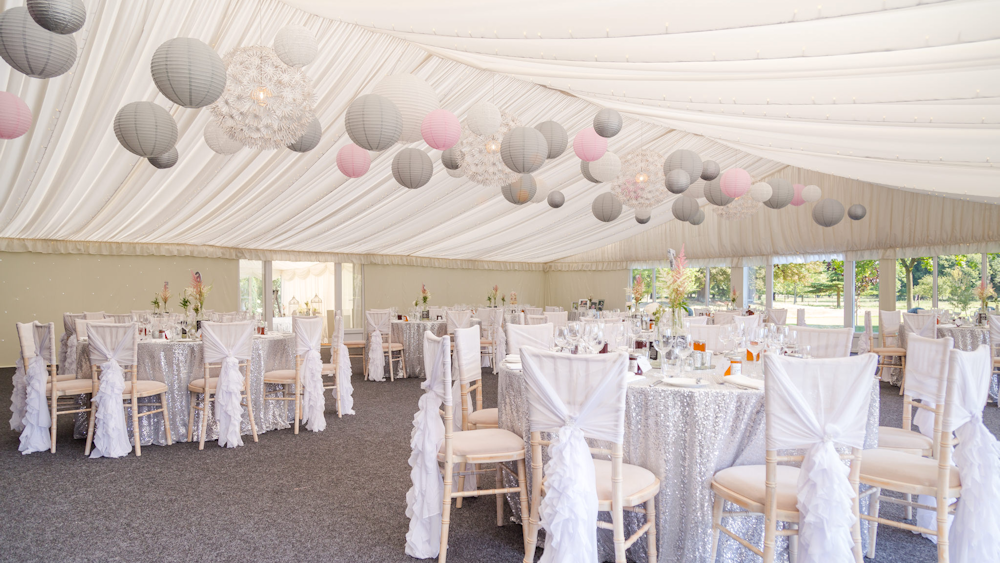 Marquee wedding lanterns
