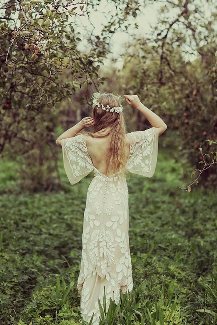 simple and sexy bohemian gown