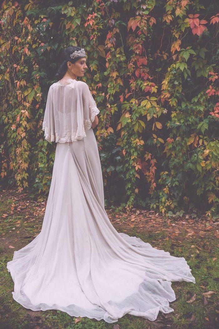 white glamor bohemian wedding dress