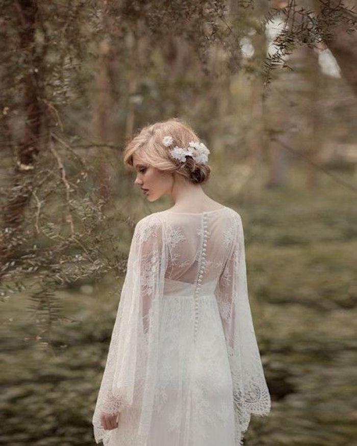 white elegant wedding gown