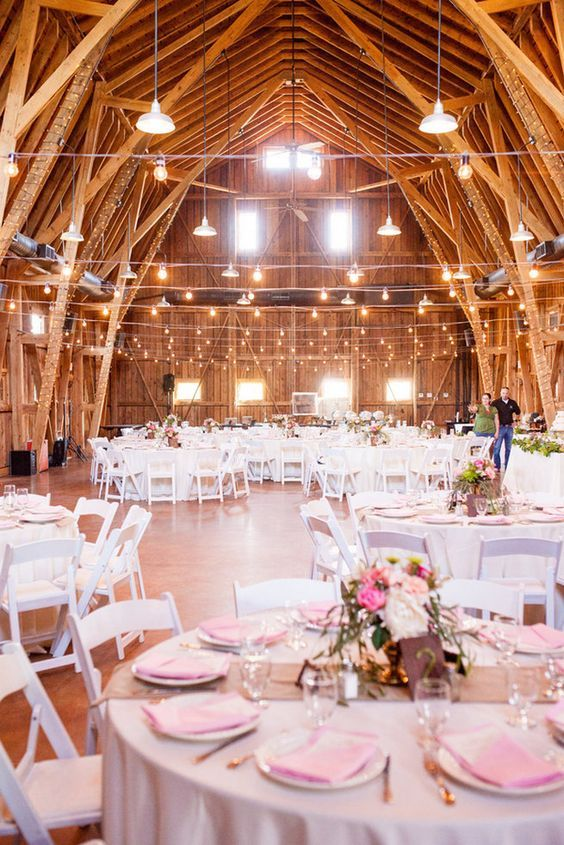 Stunning rustic wedding barn design with vintage and awesome hi miss puff pink and gold barn wedding ideas junglespirit