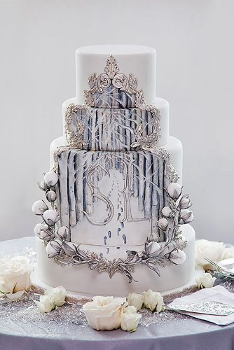 adorable winter wedding cake design