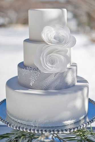 awesome white winter wedding cake