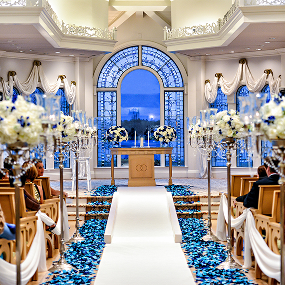 blue disney wedding