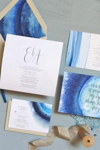 blue winter wedding invitation