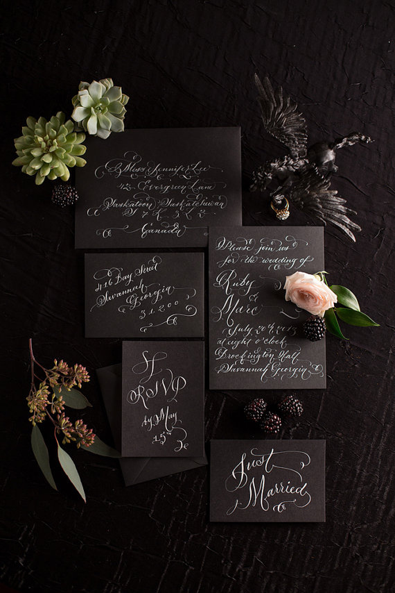 awesome black and white invitation