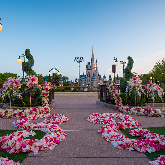 outdoor disney wedding decor