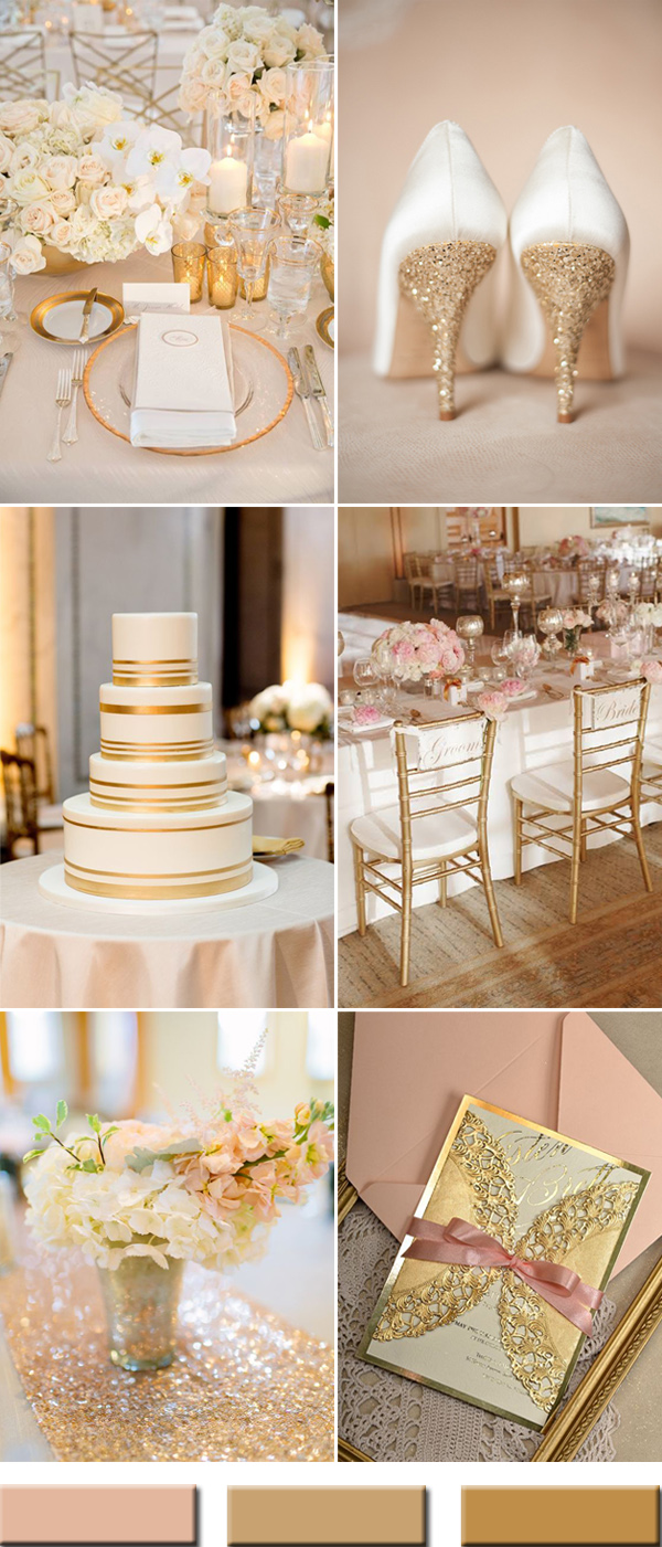 elegant-peach-and-gold-wedding-color-ideas