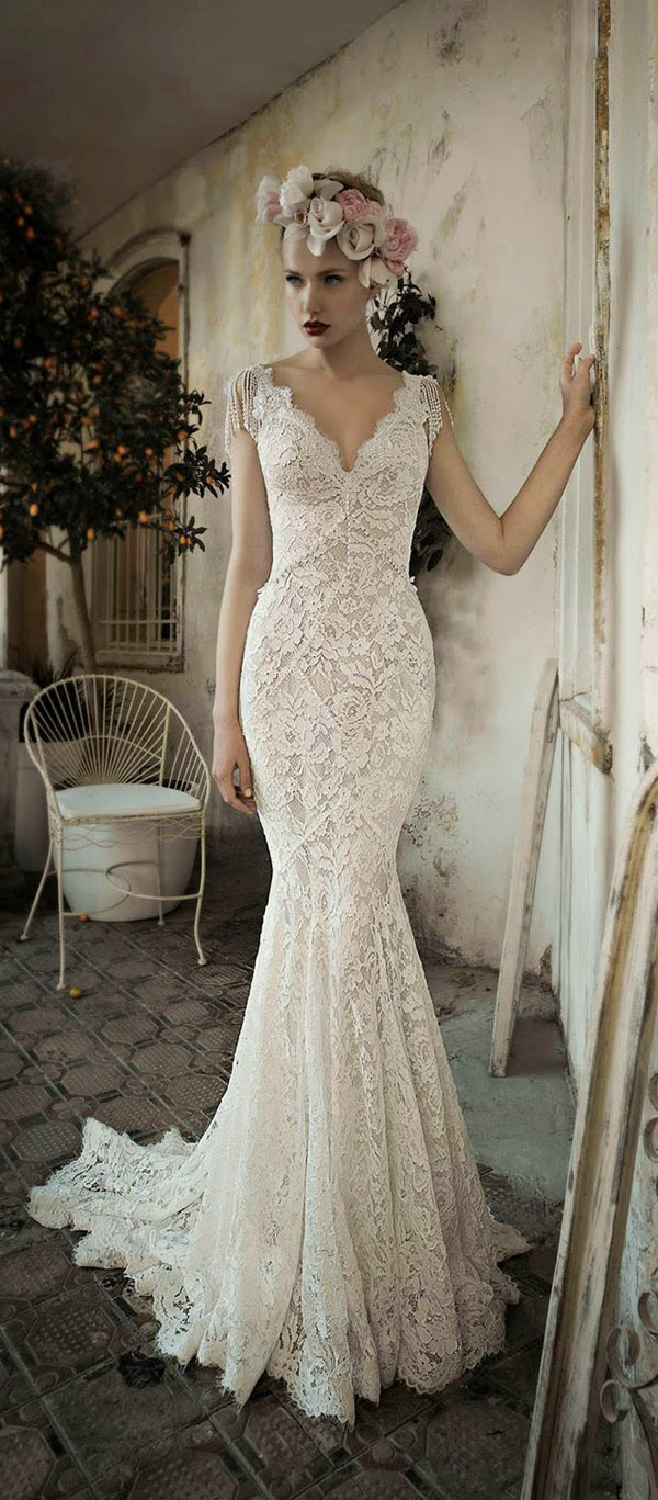 gorgeous-mermaid-lace-vintage-wedding-dresses